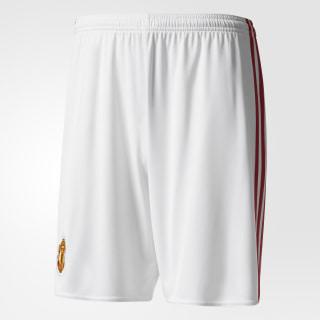 Pantaloneta Primer Uniforme Manchester United FC WHITE/REAL RED AI6714