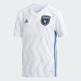 San Jose Earthquakes Away Replica Jersey White / Clear Grey / Master Blue CE6291