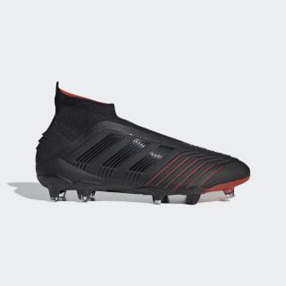 Футбольные бутсы Predator 19+ FG core black / core black / active red BC0549