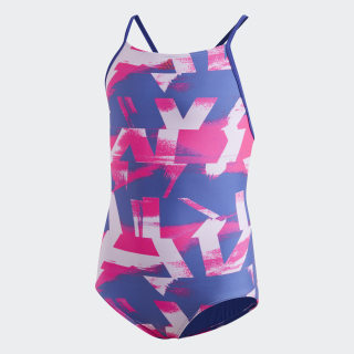 Allover Print Swimsuit Active Blue / Real Magenta DQ3384
