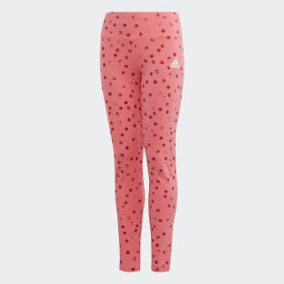 Must Haves Graphic Tights Real Pink / White / White ED4611
