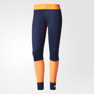 Calzas adidas STELLASPORT Colorblocked Night Indigo / Solar Orange BQ7221
