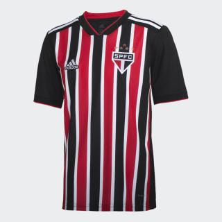 Camisa Sao Paulo Ii Infantil RED/WHITE/BLACK DZ5621