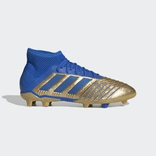 Футбольные бутсы Predator 19.1 FG Gold Metallic / Football Blue / Cloud White G25789