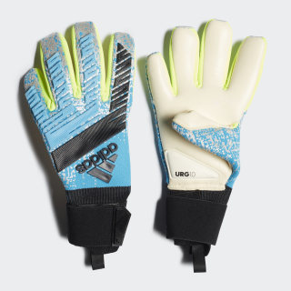 Predator Pro Gloves Bright Cyan / Silver Metallic / Solar Yellow / Black DY2630
