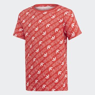 Trefoil Monogram Tee Collegiate Red / White DN8147