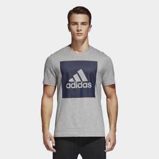 Camiseta Essentials Box Logo MEDIUM GREY HEATHER S98725