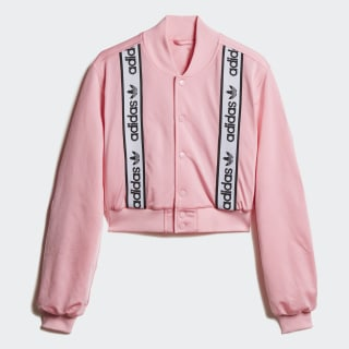 Cropped Bomber Jacket Light Pink DZ0095