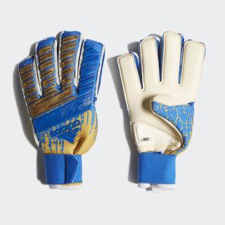 Predator Pro Fingersave Gloves Gold Metallic / Football Blue / White DY2634