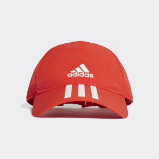 Gorra Climalite C40 3 Rayas active red / white DT8545