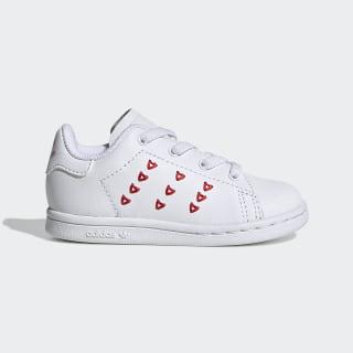 Sapatos Stan Smith Cloud White / Cloud White / Lush Red EG6498