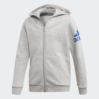 Must Haves Badge of Sport Track Jacket Medium Grey Heather / Collegiate Royal ED6486