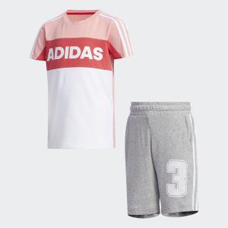 Graphic Trainingsanzug Glory Pink / Medium Grey Heather FN0922