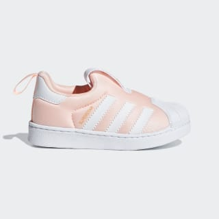 Superstar 360 Shoes Clear Orange / Cloud White / Gold Metallic DB2882