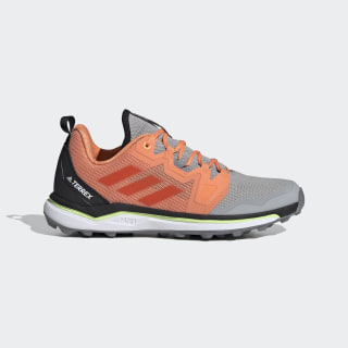 Terrex Agravic Trail Running Shoes Grey Two / Glory Amber / Amber Tint EF2171
