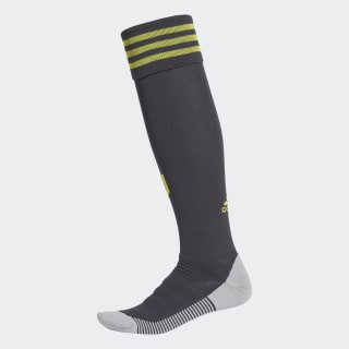 Juventus Turin Ausweichsocken Carbon / Shock Yellow CF3516