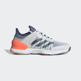 Adizero Ubersonic 2.0 Shoes Cloud White / Tech Indigo / Signal Coral FU9468