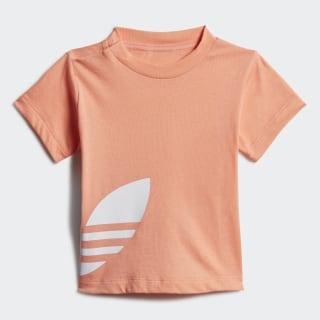 Camiseta Big Trefoil Chalk Coral / White FM5611