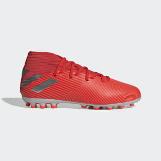 Nemeziz 19.3 Artificial Grass Boots Active Red / Silver Met. / Solar Red F99927