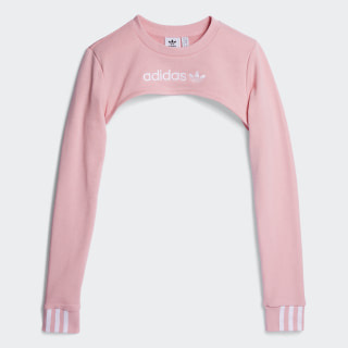 SWEATSHIRT (LONG SLEEVE) SHRUG SWEATER Light Pink DZ0098
