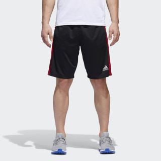 D2M 3-Stripes Shorts Black / Scarlet BQ3185
