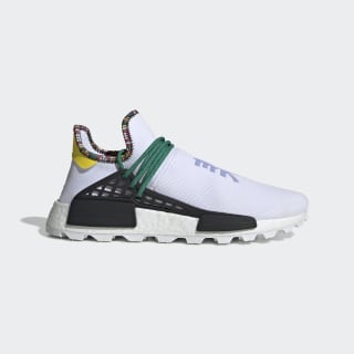 Pharrell Williams SOLARHU NMD Shoes Ftwr White / Bold Green / Bright Yellow EE7583