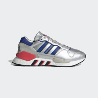 ZX930xEQT Shoes Silver Metallic / Power Blue / Shock Red EF5558