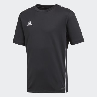 Camisa Core 18 Treino Infantil BLACK/WHITE CE9020