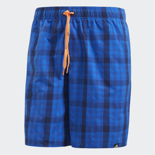 Check Swim Shorts Dark Blue / Hi-Res Orange DJ2123
