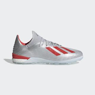 Zapatos de Fútbol X 19.1 Césped Artificial Silver Met. / Hi-Res Red / Ftwr White G25752