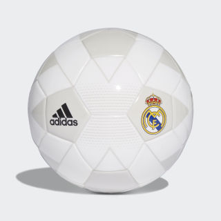 Mini pelota Real Madrid CREAM WHITE/GREY ONE F17/BLACK CW4159