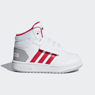 Tenis Hoops 2.0 Mid Cloud White / Active Pink / Core Black F35835
