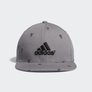 Flat-Bill Hat Grey Three FL5659