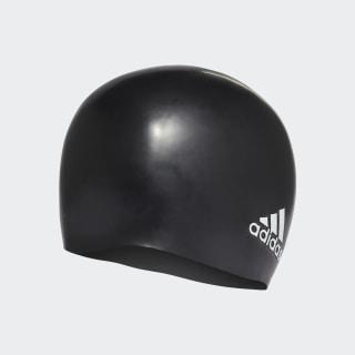 silicone logo swim cap Black / White 802316