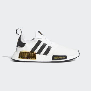 NMD_R1 Shoes Cloud White / Core Black / Gold Metallic EG5665