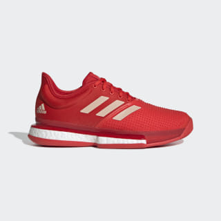 SoleCourt Boost Shoes Active Red / Soft Powder / Scarlet EF2074
