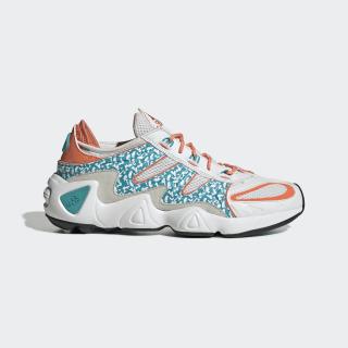 FYW S-97 Shoes Crystal White / Hi-Res Aqua / Semi Coral EE5306