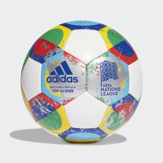 Balón UEFA Top Glider white / silver met. / multicolor CW5268