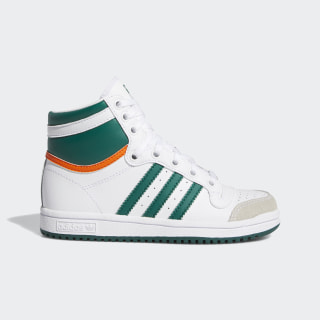 Top Ten Hi Shoes Cloud White / Collegiate Green / Orange EF2838