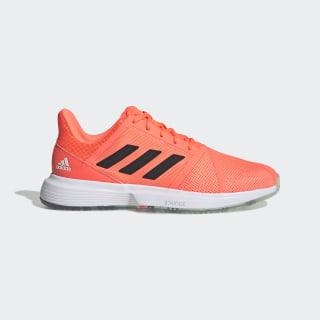 CourtJam Bounce Shoes Dash Green / Signal Coral / Tech Purple EF2478