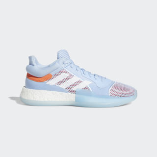 Zapatilla Marquee Boost Low Glow Blue / Cloud White / Hi-Res Coral G26215