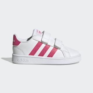 Chaussure Grand Court Cloud White / Real Pink / Cloud White EG3815