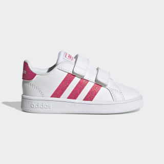 Grand Court Shoes Cloud White / Real Pink / Cloud White EG3815