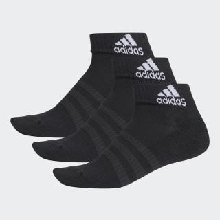 Socquettes Cushioned (3 paires) Black / Black / Black DZ9379