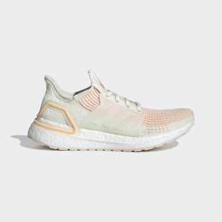 Кроссовки для бега Ultraboost 19 off white / off white / glow orange F34073
