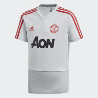 Manchester United Training Jersey Clear Grey / Blaze Red DP6829