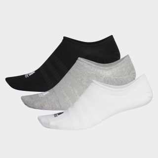 Meias Invisíveis – 3 pares Medium Grey Heather / White / Black DZ9414