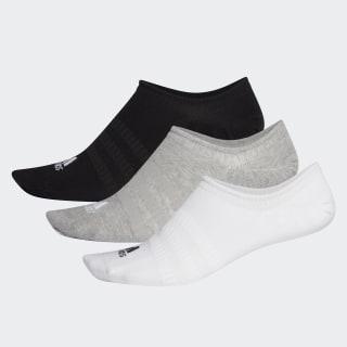 Ponožky No-Show – 3 páry Medium Grey Heather / White / Black DZ9414