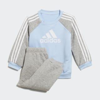 Warm joggingsæt Glow Blue / Medium Grey Heather / White ED1150