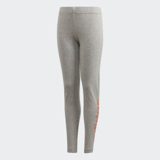 Essentials Linear Leggings Medium Grey Heather / Signal Coral FM7023